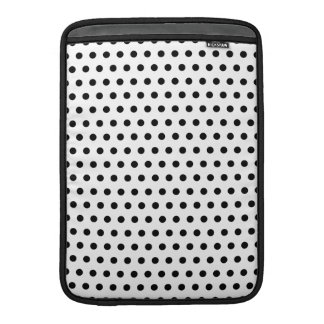 Black and White Polka Dot Pattern. Spotty. Sleeve For MacBook Air