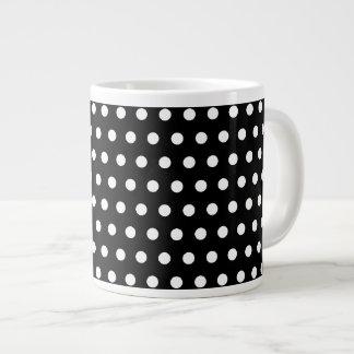 Black and White Polka Dot Pattern. Spotty. Extra Large Mugs