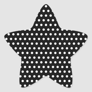 Black and White Polka Dot Pattern. Spotty. Star Sticker