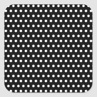 Black and White Polka Dot Pattern. Spotty. Stickers