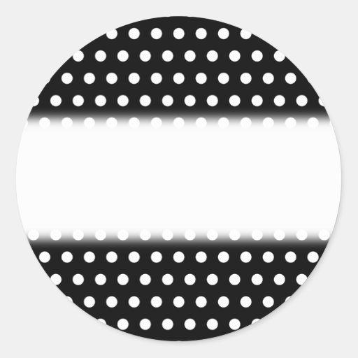 Black and White Polka Dot Pattern. Spotty. Round Sticker