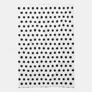Black and White Polka Dot Pattern. Spotty. Towels