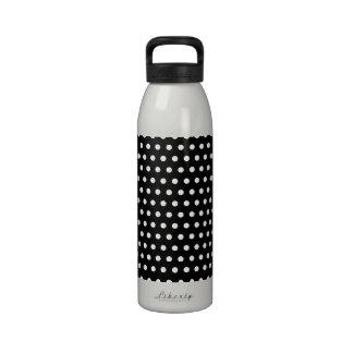 Black and White Polka Dot Pattern. Spotty. Reusable Water Bottles