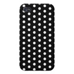 Black and White Polka Dot Pern. Spotty. Case For iPhone 4