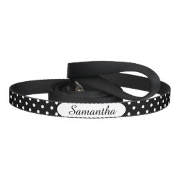 Black and White Polka Dot Personalized Pet Leash