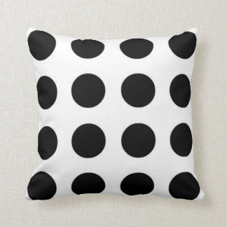 Black and White Polka Dot Pillow