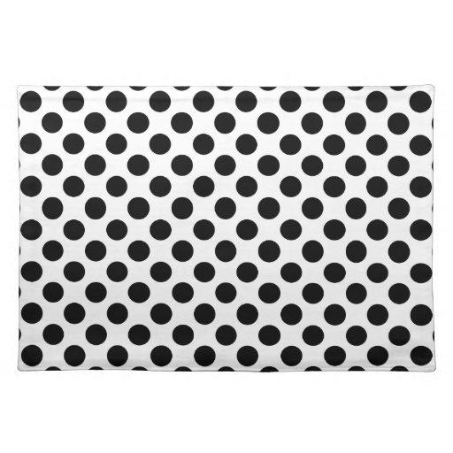 black and white polka dot placemat zazzle. Black Bedroom Furniture Sets. Home Design Ideas