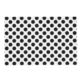 Black and White Polka Dot Placemat Laminated Placemat