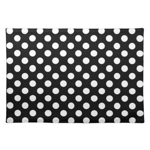 black and white polka dot placemats zazzle. Black Bedroom Furniture Sets. Home Design Ideas