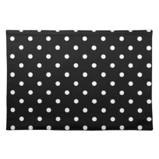 black and white polka dot placemats black and white polka dot place mats. Black Bedroom Furniture Sets. Home Design Ideas