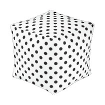 Black and White Polka Dot Pouf