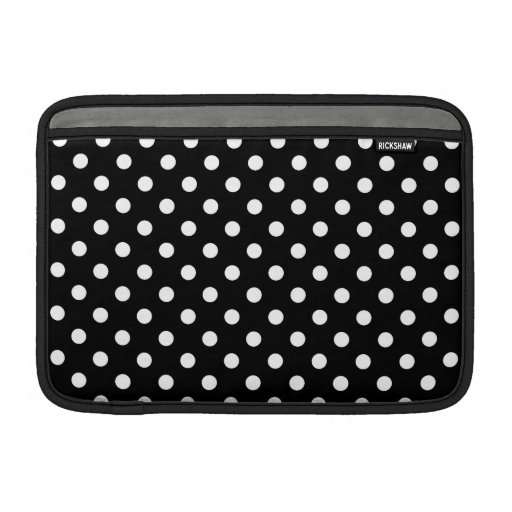 Black and White Polka Dot Sleeve For MacBook Air