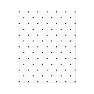 Black And White Polka Dot Spots Canvas Print