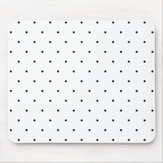 Black And White Polka Dot Spots Mouse Pad