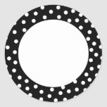 Black and White Polka Dot Stickers