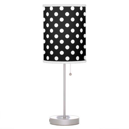 black and white polka dot table lamp. Black Bedroom Furniture Sets. Home Design Ideas