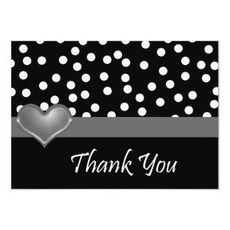 Black and White Polka Dot Thank You Card
