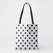 Black and White Polka Dot Tote Bag