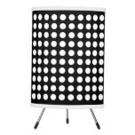 Black And White Polka Dot Tripod Lamp