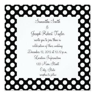 Black and White Polka Dot Wedding Announcement