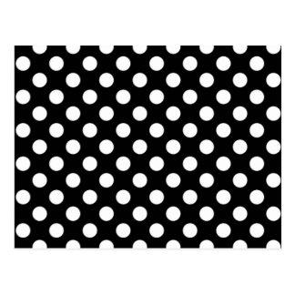 Black and White Polka Dot Wedding RSVP Postcard