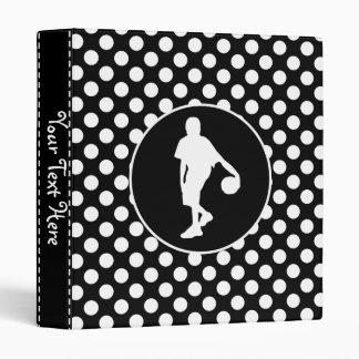 Black and White Polka Dots; Basketball 3 Ring Binders