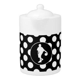 Black and White Polka Dots; Basketball