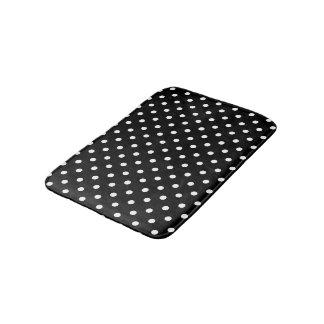 Black and White Polka Dots Bathroom Mat