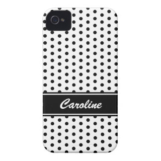 Black and white polka dots BlackBerry Bold case