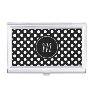 Black and White Polka Dots Business Card Case