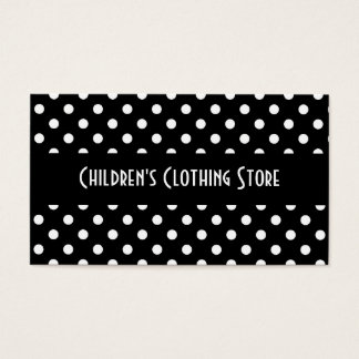 Black and White Polka Dots Business Cards