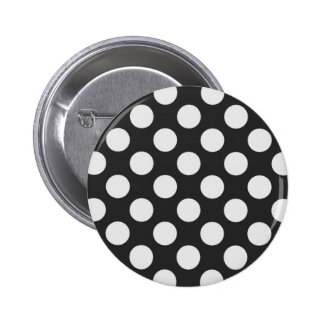Black and White Polka Dots 2 Inch Round Button