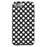 Black and White Polka Dots Case Tough iPhone 6 Case