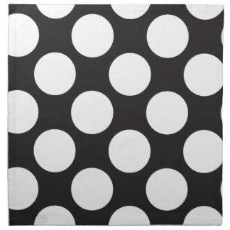 Black and White Polka Dots Cloth Napkins