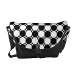 Black and White Polka Dots Courier Bag