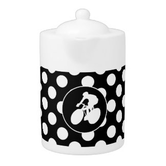 Black and White Polka Dots; Cycling