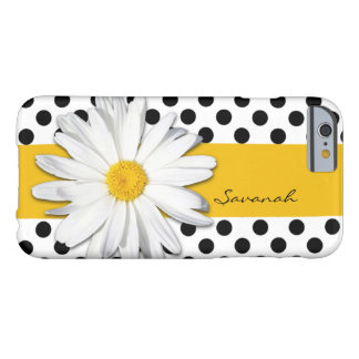 Black and White Polka Dots, Daisy iPhone 6 Case