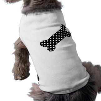 Black and White Polka Dots Doggie Tee Shirt