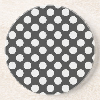 Black and White Polka Dots Drink Coasters