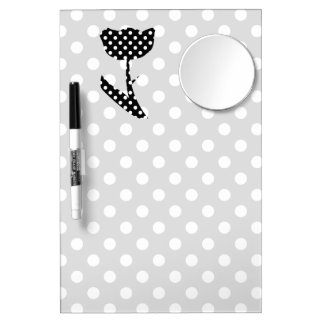 Black and White Polka Dots Dry Erase Boards