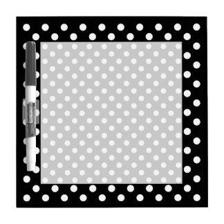 Black and White Polka Dots Dry Erase Whiteboard