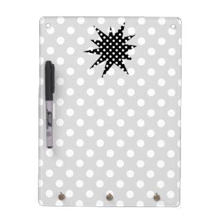 Black and White Polka Dots Dry Erase Board