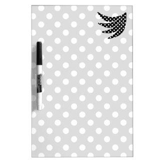 Black and White Polka Dots Dry-Erase Whiteboards