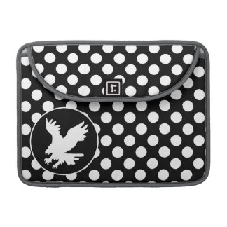 Black and White Polka Dots; Eagle MacBook Pro Sleeve