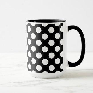 Black and White Polka Dots; Eagle Mug