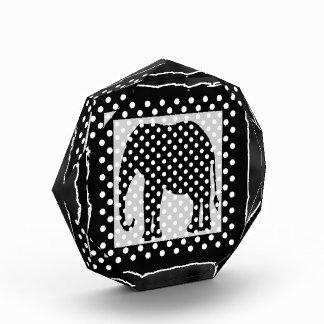 Black and White Polka Dots Elephant Award