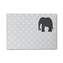Black and White Polka Dots Elephant Post-it Notes