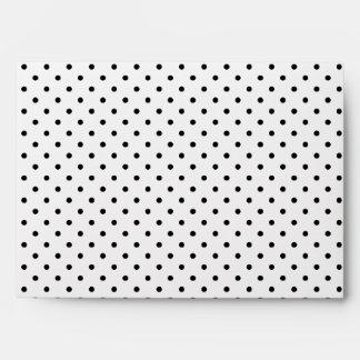 Black and White Polka Dots Envelopes