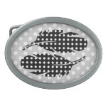 Black and White Polka Dots, Feather Belt Buckles