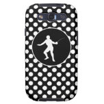 Black and White Polka Dots; Fencing Galaxy SIII Cases